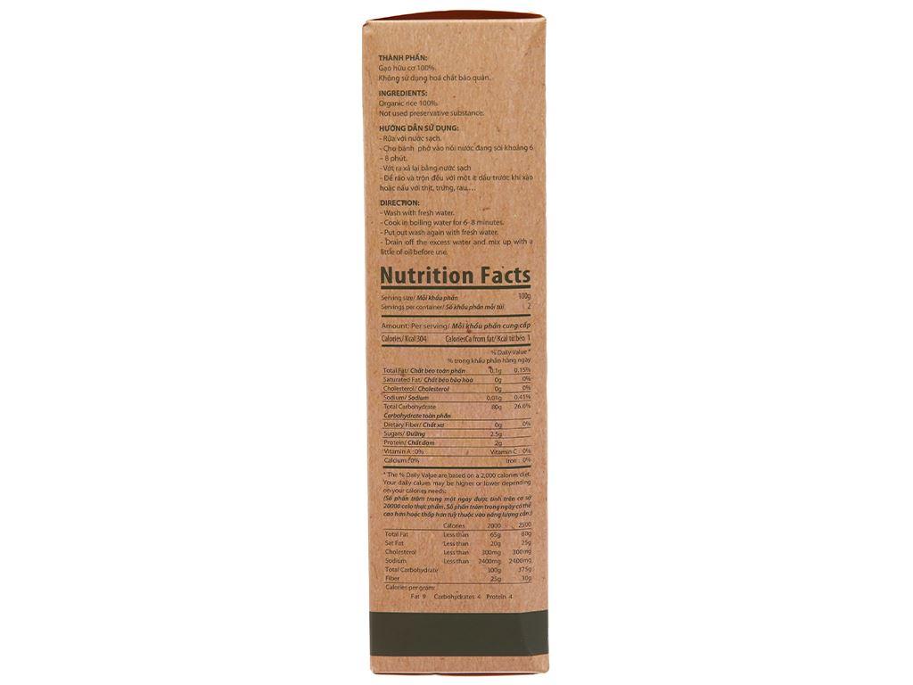 Phở hữu cơ Vina Bích Chi gói 200g 2