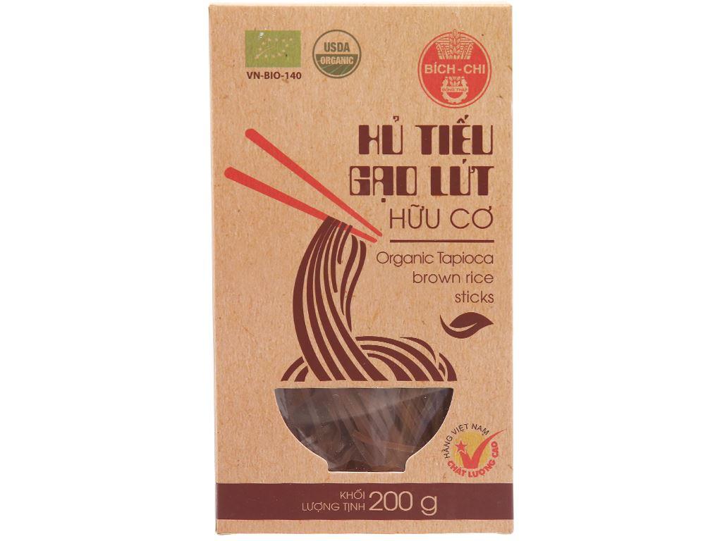 Hủ tiếu gạo lứt hữu cơ Bích Chi hộp 200g 1