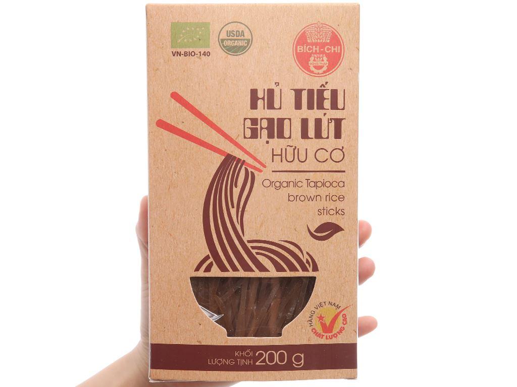 Hủ tiếu gạo lứt hữu cơ Bích Chi hộp 200g 3
