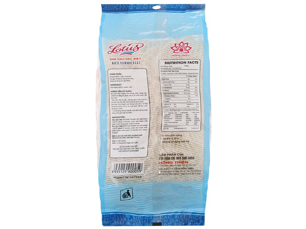 Bún gạo khô Lotus gói 200g 3