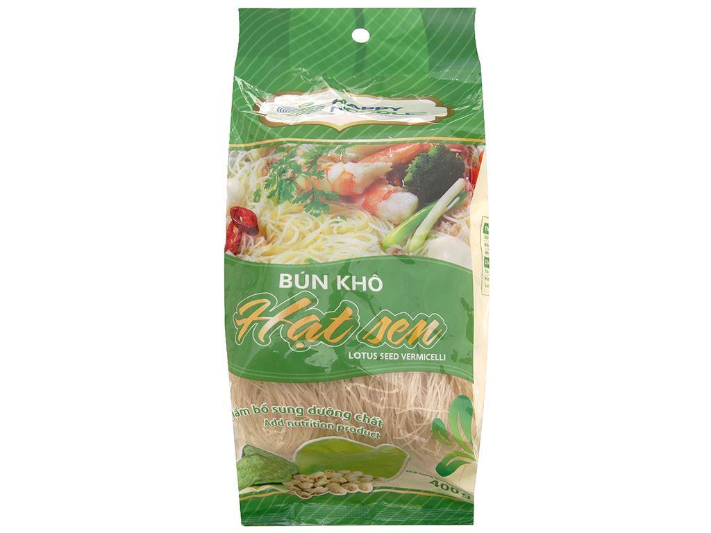 Bún khô hạt sen Happy Noodles gói 400g 2