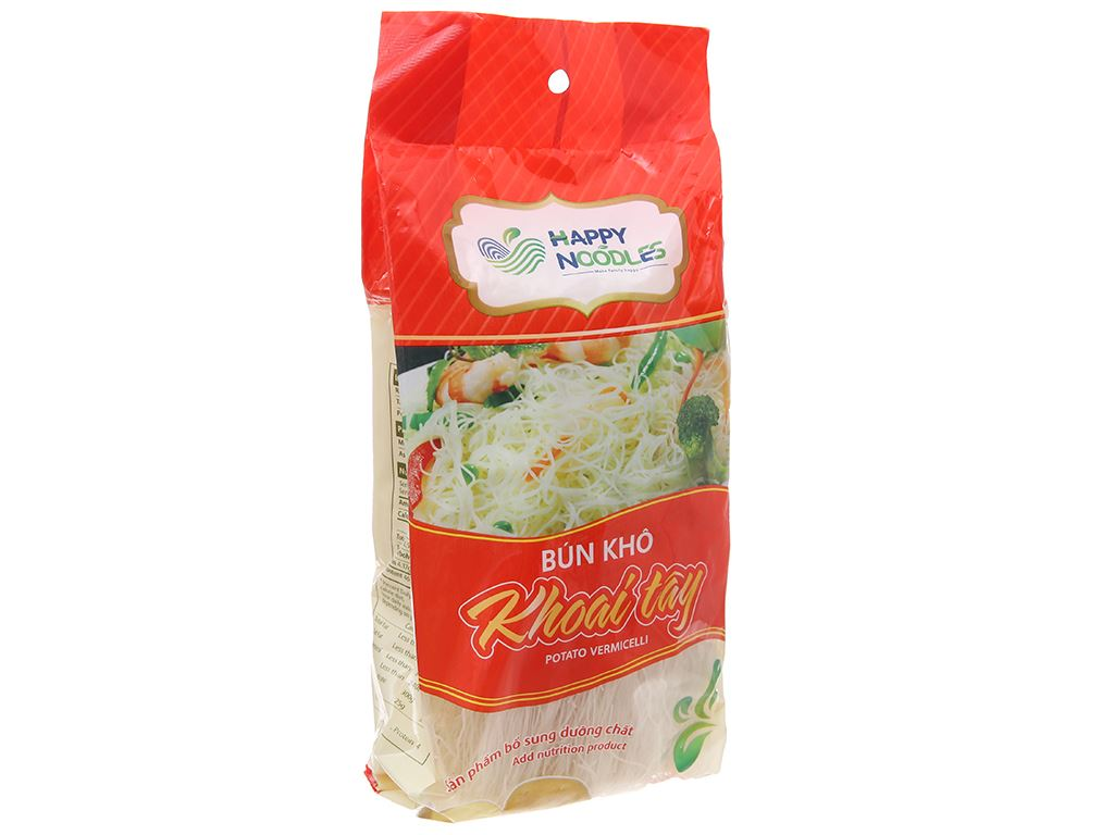 Bún khô khoai tây Happy Noodles gói 400g 2