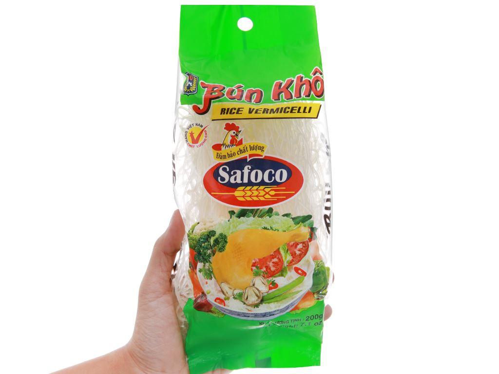 Bún gạo khô Safoco gói 200g 4