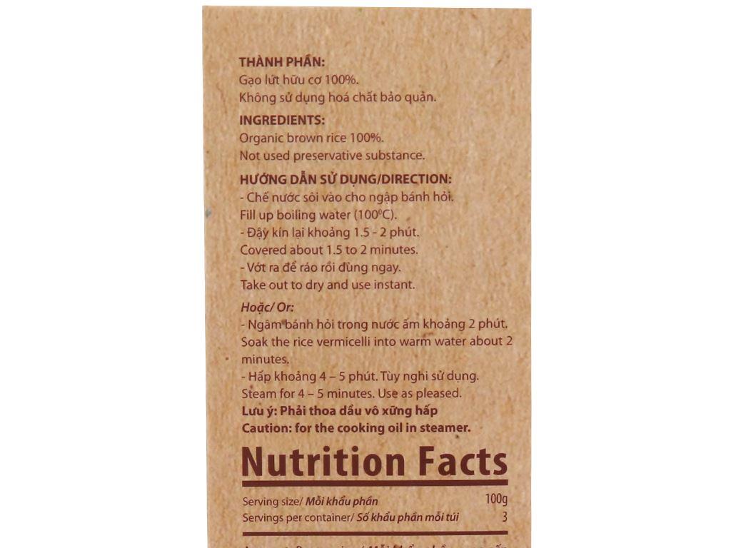 Bánh hỏi gạo lứt hữu cơ Bích Chi hộp 200g 4