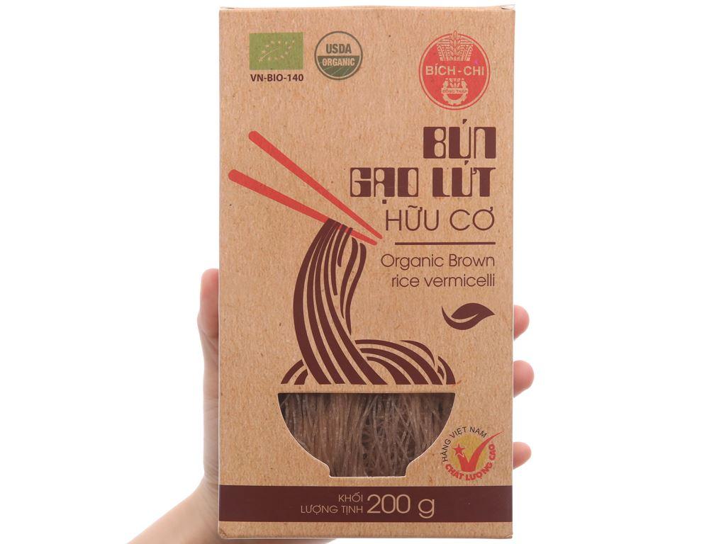 Bún gạo lứt hữu cơ Bích Chi hộp 200g 3