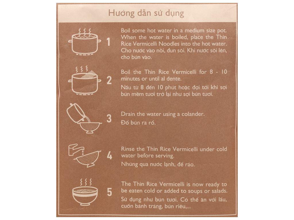 Bún tươi dạng khô Mekong River gạo huyết rồng gói 300g 3