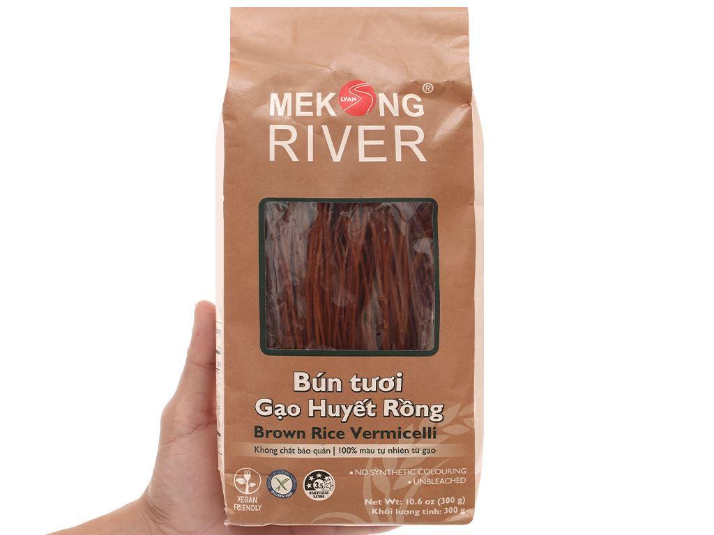 Bún tươi dạng khô Mekong River gạo huyết rồng gói 300g 5