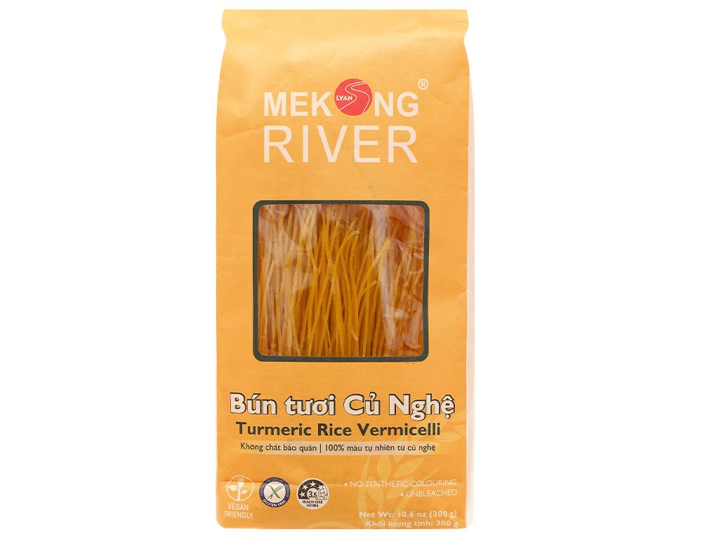 Bún tươi dạng khô Mekong River củ nghệ gói 300g 1
