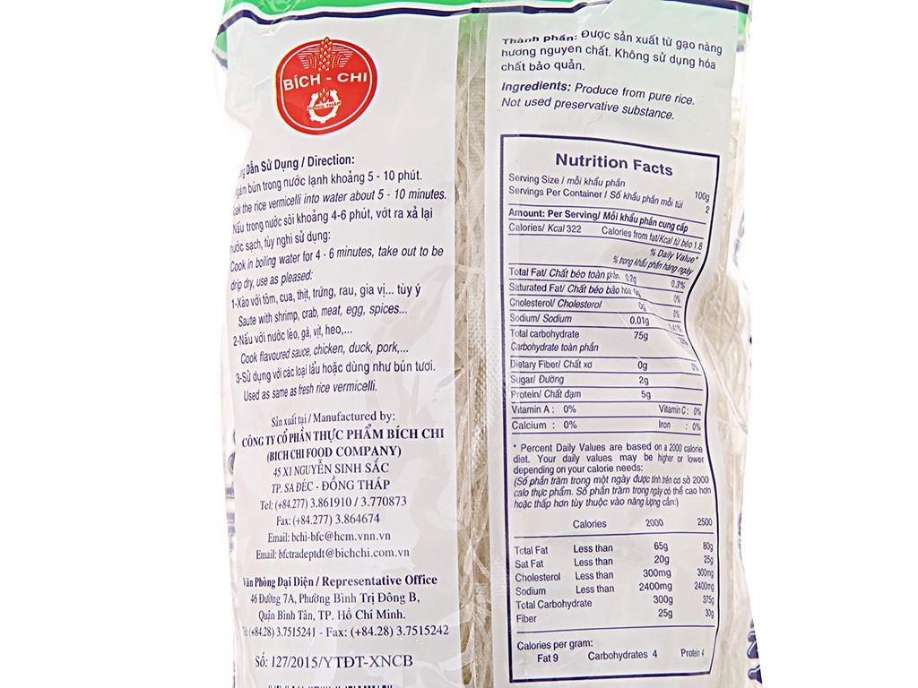 Bún gạo khô Nàng Hương Bích Chi gói 200g 4