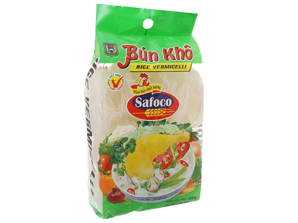 Bún gạo khô Safoco gói 400g 2