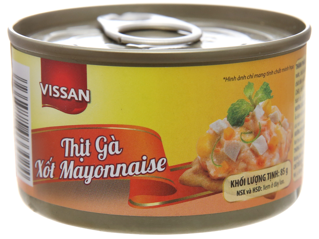 Thịt gà xốt mayonnaise Vissan hộp 85g 1