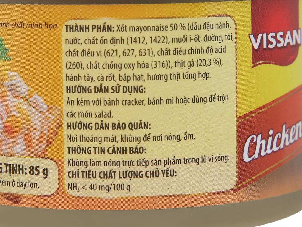 Thịt gà xốt mayonnaise Vissan hộp 85g 2