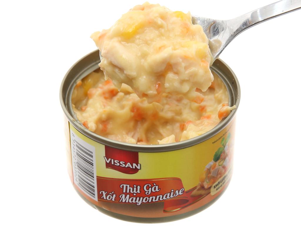 Thịt gà xốt mayonnaise Vissan hộp 85g 4