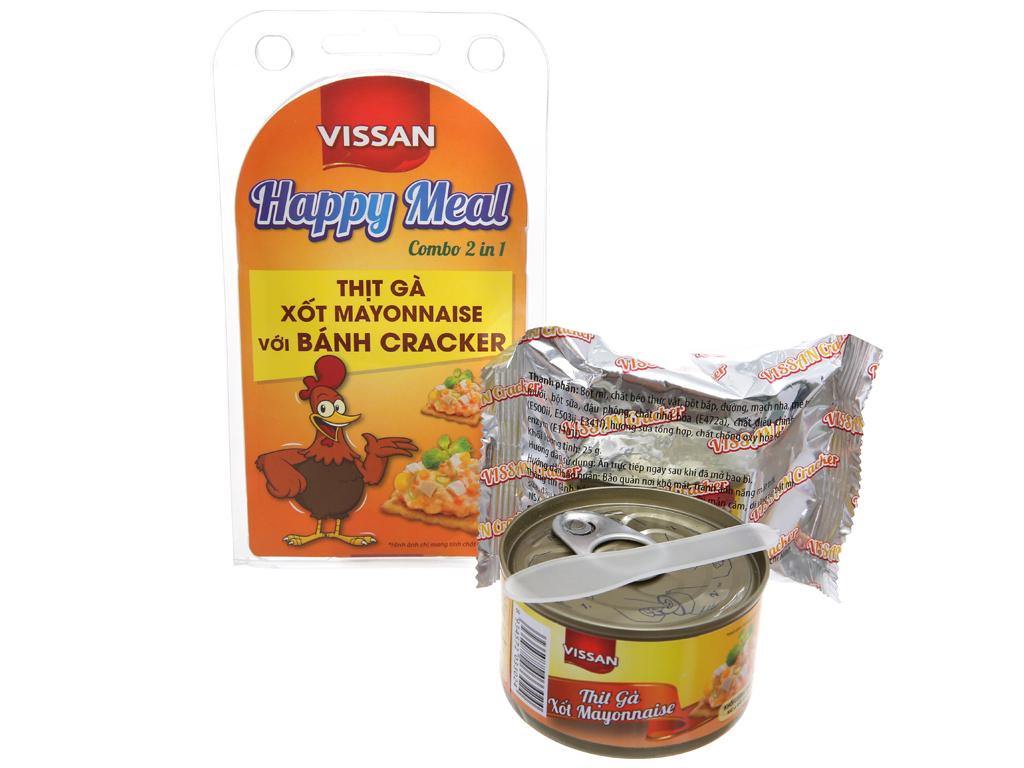 Thịt gà xốt mayonnaise và bánh cracker Happy Meal Vissan hộp 110g 6