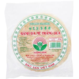 Bánh đa mè trắng dừa 20cm Hương Nam gói 454g