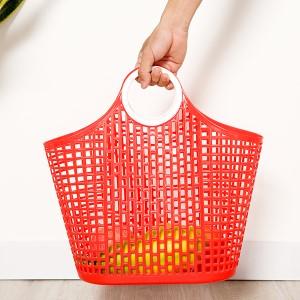 Giỏ xách đi chợ nhựa Duy Tân 38cm (giao màu ngẫu nhiên)