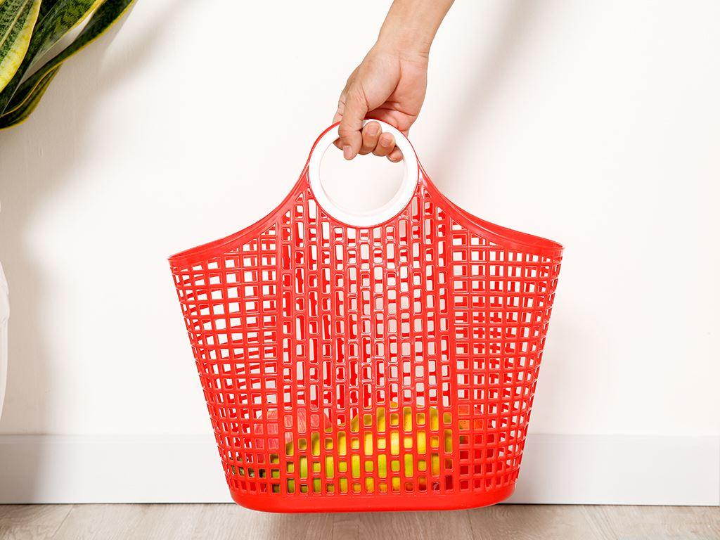 Giỏ xách đi chợ nhựa Duy Tân 38cm (giao màu ngẫu nhiên) 5