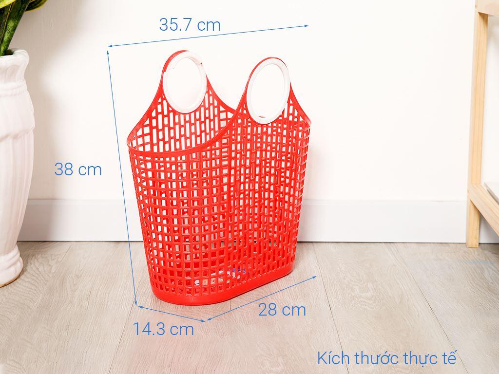 Giỏ xách đi chợ nhựa Duy Tân 38cm (giao màu ngẫu nhiên) 6