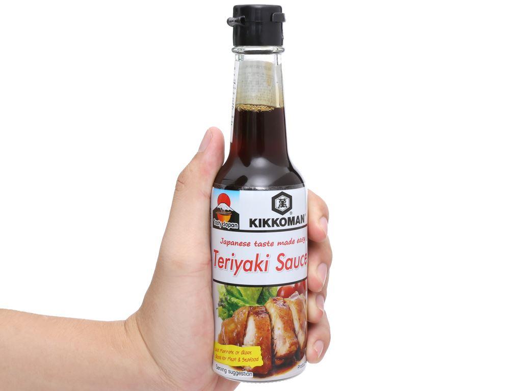 Sốt tẩm ướp Teriyaki Kikkoman chai 150ml 9