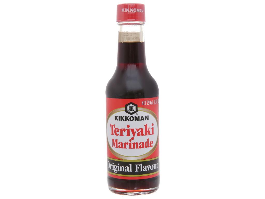 Sốt tẩm ướp Teriyaki truyền thống Kikkoman chai 250ml 1