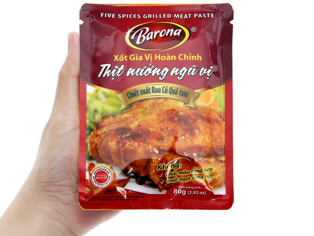 Xốt ướp thịt nướng ngũ vị Barona gói 80g 4