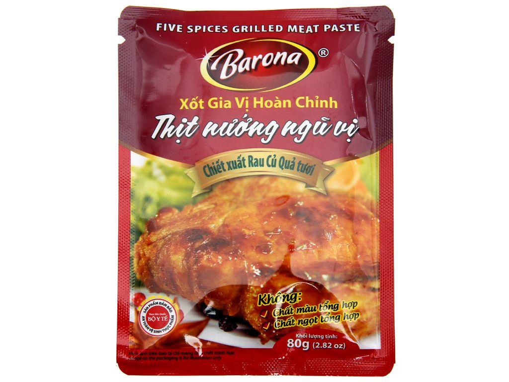 Xốt ướp thịt nướng ngũ vị Barona gói 80g 1