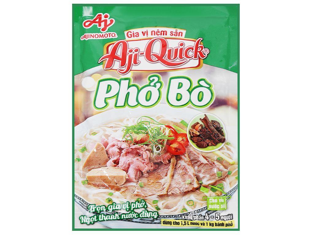 Gia vị nêm sẵn nấu phở bò Aji-Quick gói 57g 2