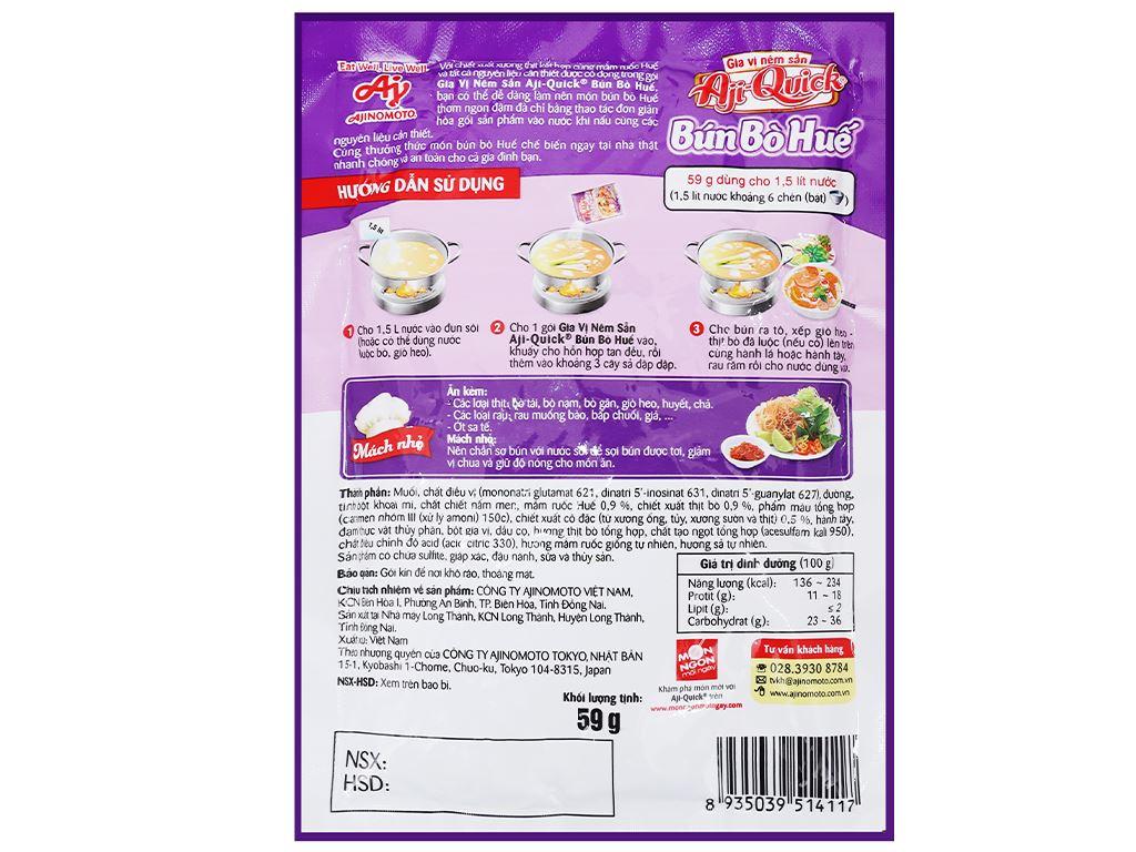 Gia vị nêm sẵn nấu bún bò Huế Aji-Quick gói 59g 3