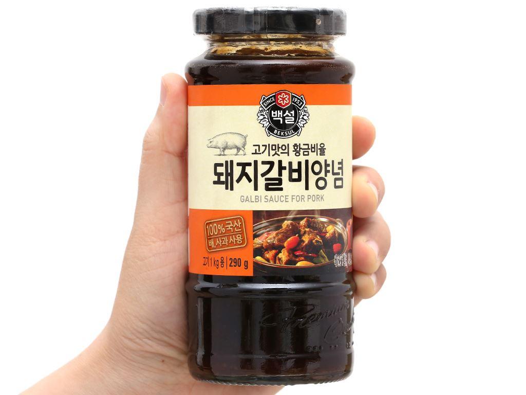 Sốt ướp sườn heo Beksul chai 290g 4