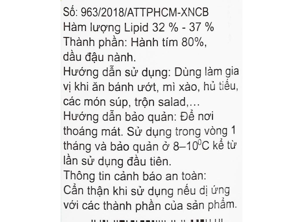 Hành phi Minh Hà hũ 100g 3