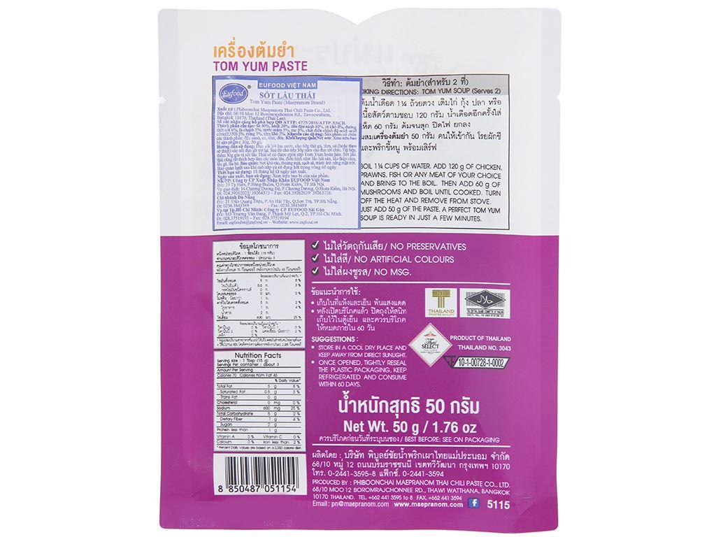 Sốt lẩu Thái Tom yum MaePranom gói 50g 2