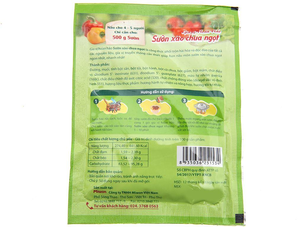 Gia vị hoàn hảo sườn xào chua ngọt Miwon gói 28g 2