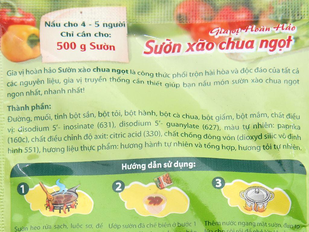 Gia vị hoàn hảo sườn xào chua ngọt Miwon gói 28g 3