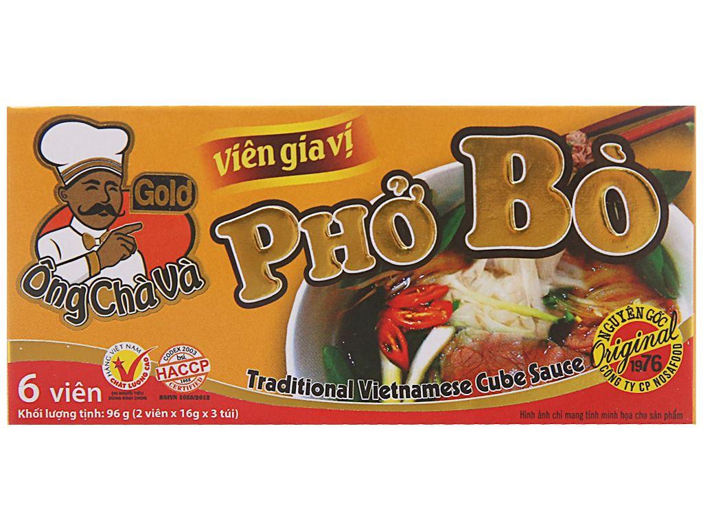 Viên gia vị nấu phở bò Ông Chà Và Gold hộp 96g 1