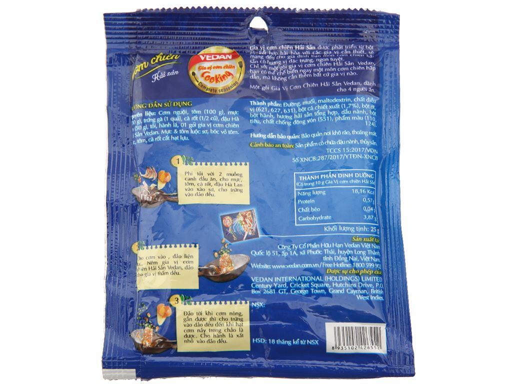 Gia vị cơm chiên hải sản Vedan gói 25g 2