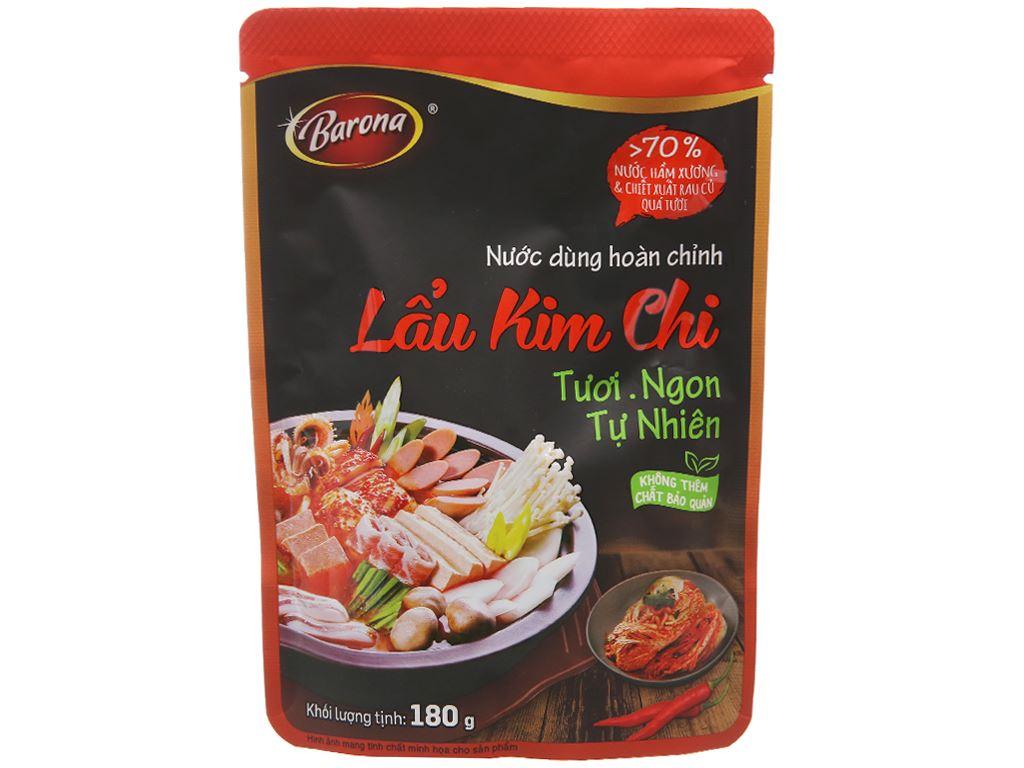 Nước dùng hoàn chỉnh lẩu kimchi Barona gói 180g 1