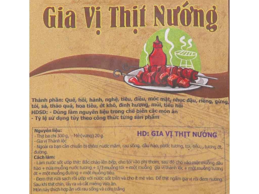 Gia vị thịt nướng Thành Lộc gói 20g 3