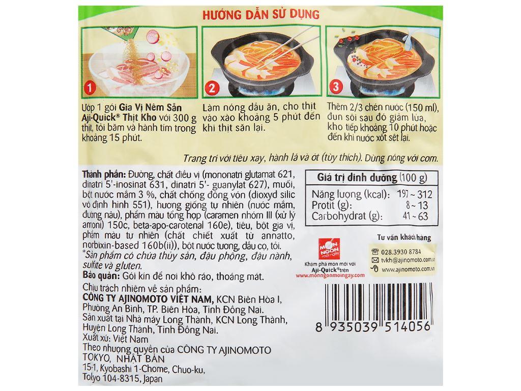 Gia vị nêm sẵn thịt kho Aji-Quick gói 31g 3