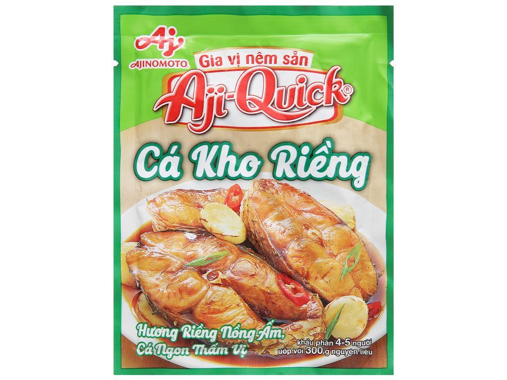 Gia vị nêm sẵn cá kho riềng Aji-Quick gói 29g 1