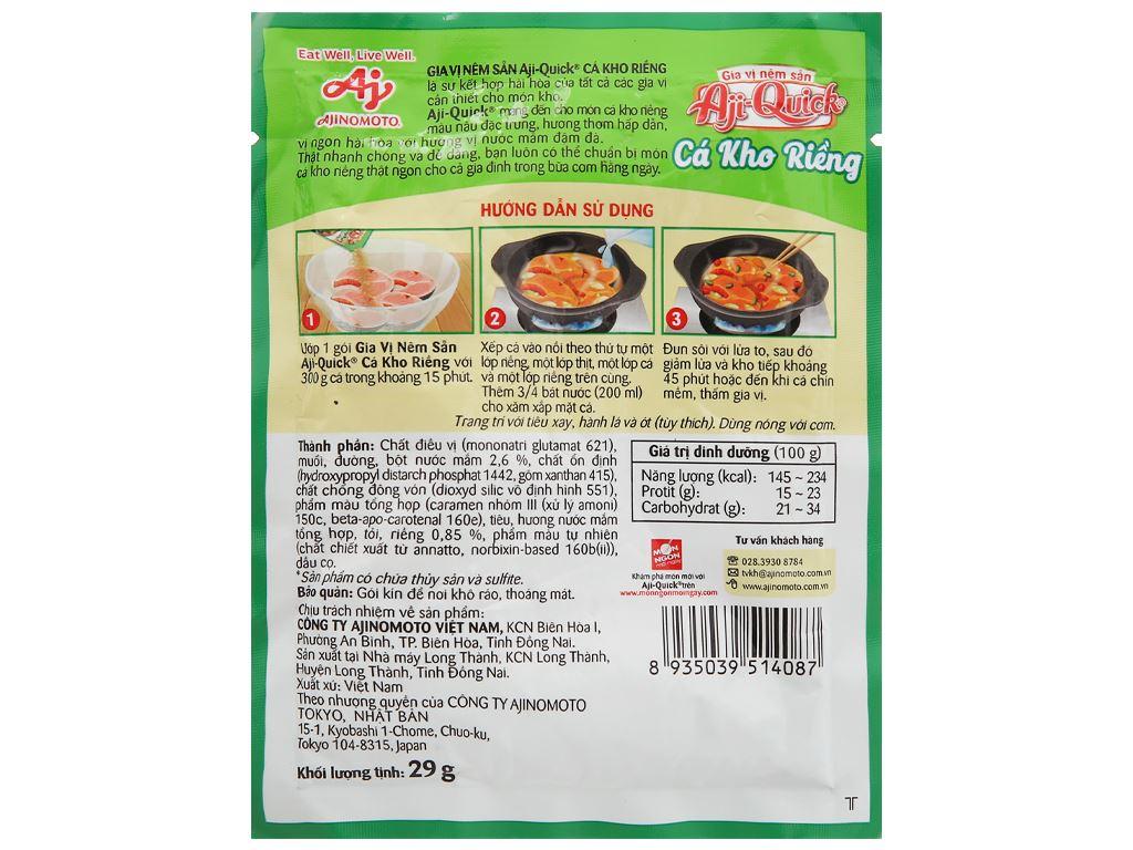 Gia vị nêm sẵn cá kho riềng Aji-Quick gói 29g 2