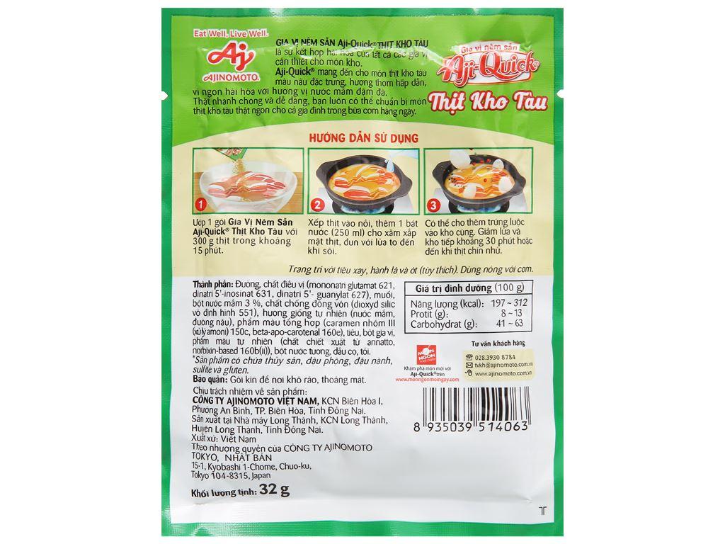 Gia vị nêm sẵn thịt kho tàu Aji-Quick gói 32g 2