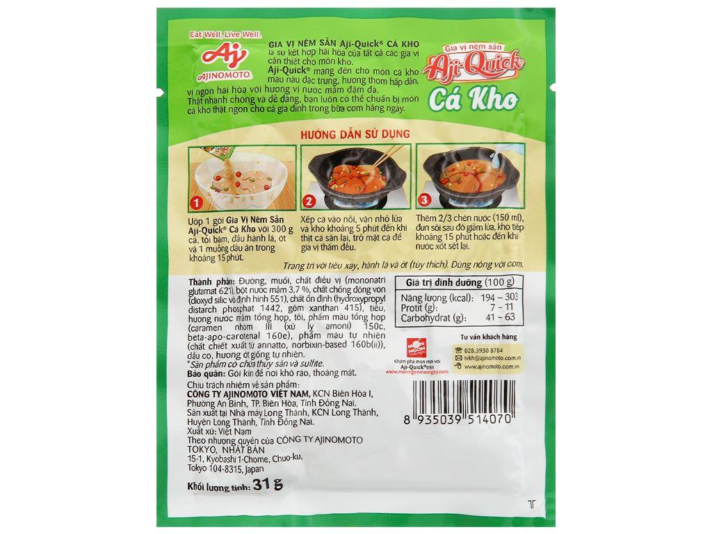 Gia vị nêm sẵn cá kho Aji-Quick gói 31g 2