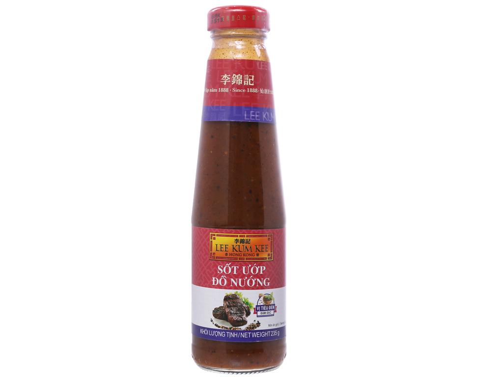 Sốt ướp đồ nướng vị tiêu đen đậm đặc Lee Kum Kee chai 235g 1