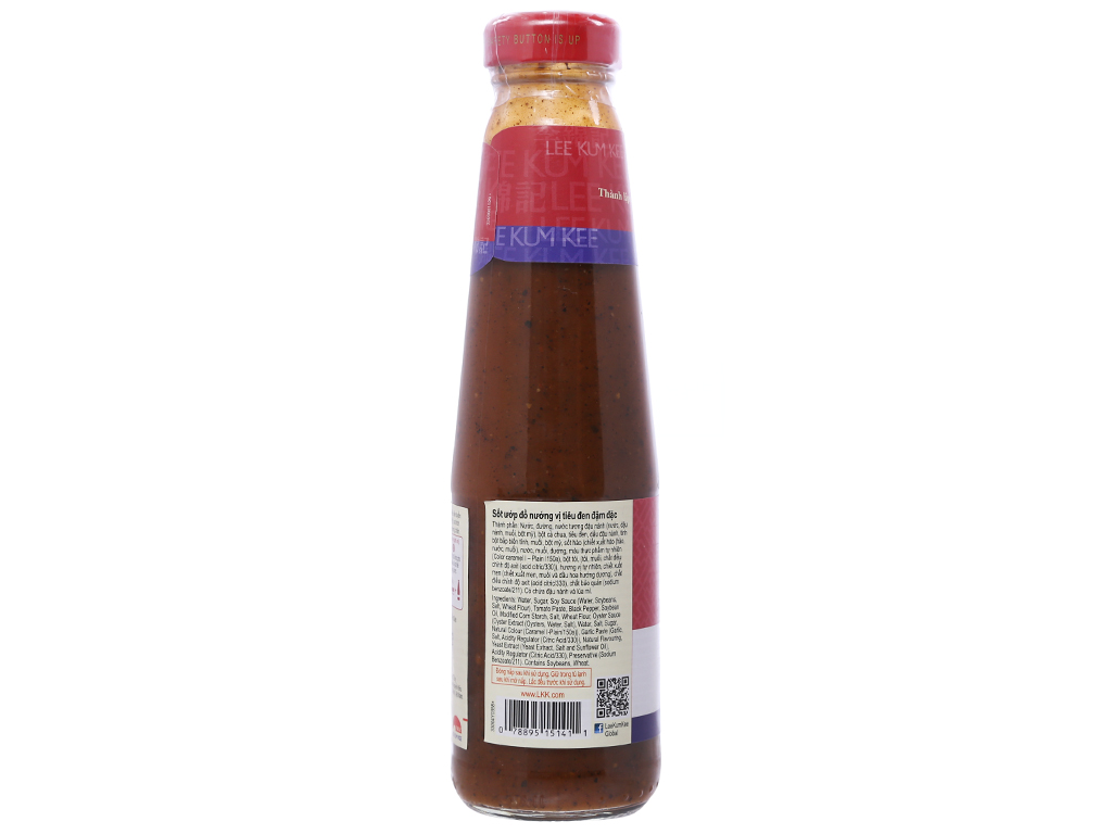 Sốt ướp đồ nướng vị tiêu đen đậm đặc Lee Kum Kee chai 235g 2