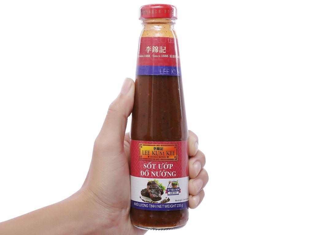 Sốt ướp đồ nướng vị tiêu đen đậm đặc Lee Kum Kee chai 235g 5
