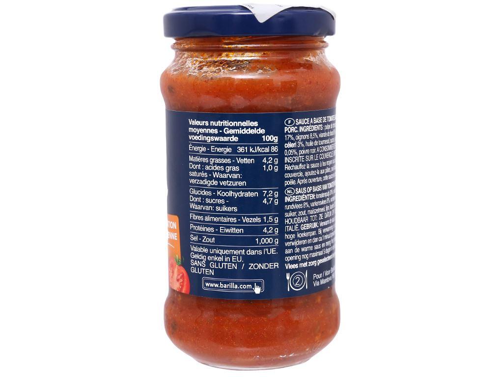 Sốt cà Barilla Bolognese hũ 200g 3