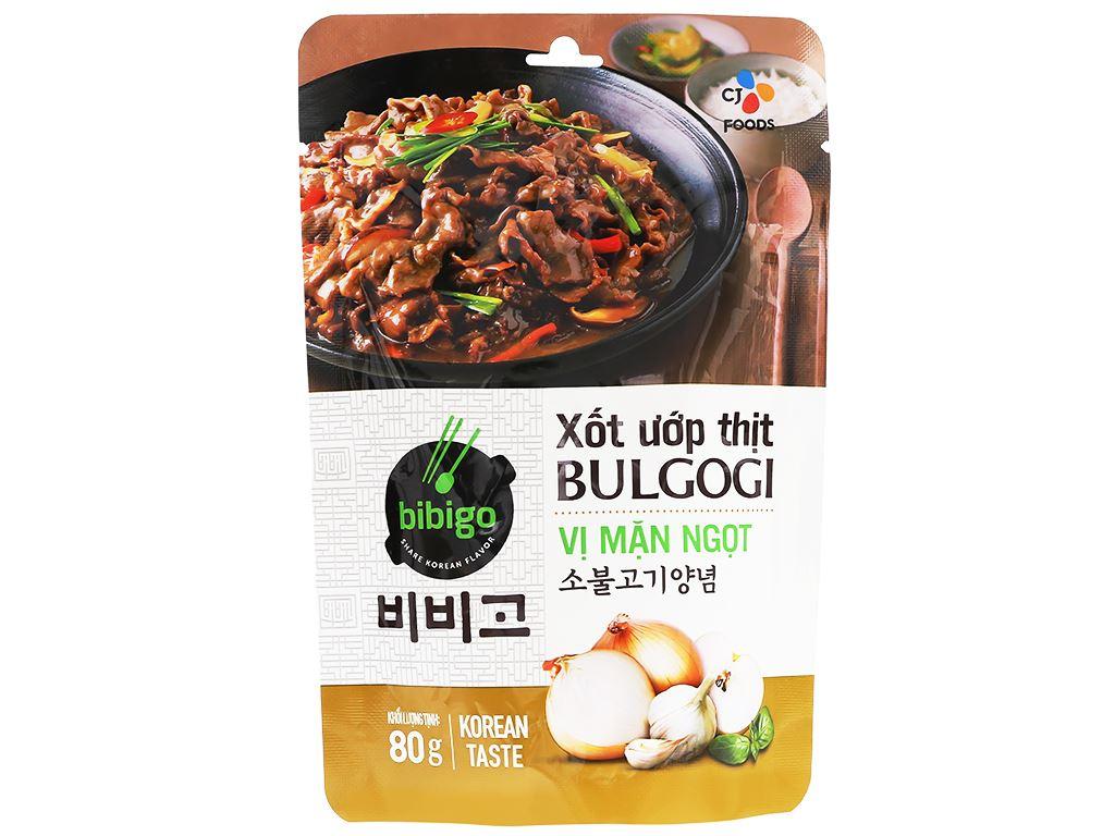 Xốt ướp thịt bulgogi vị mặn ngọt Bibigo gói 80g 1