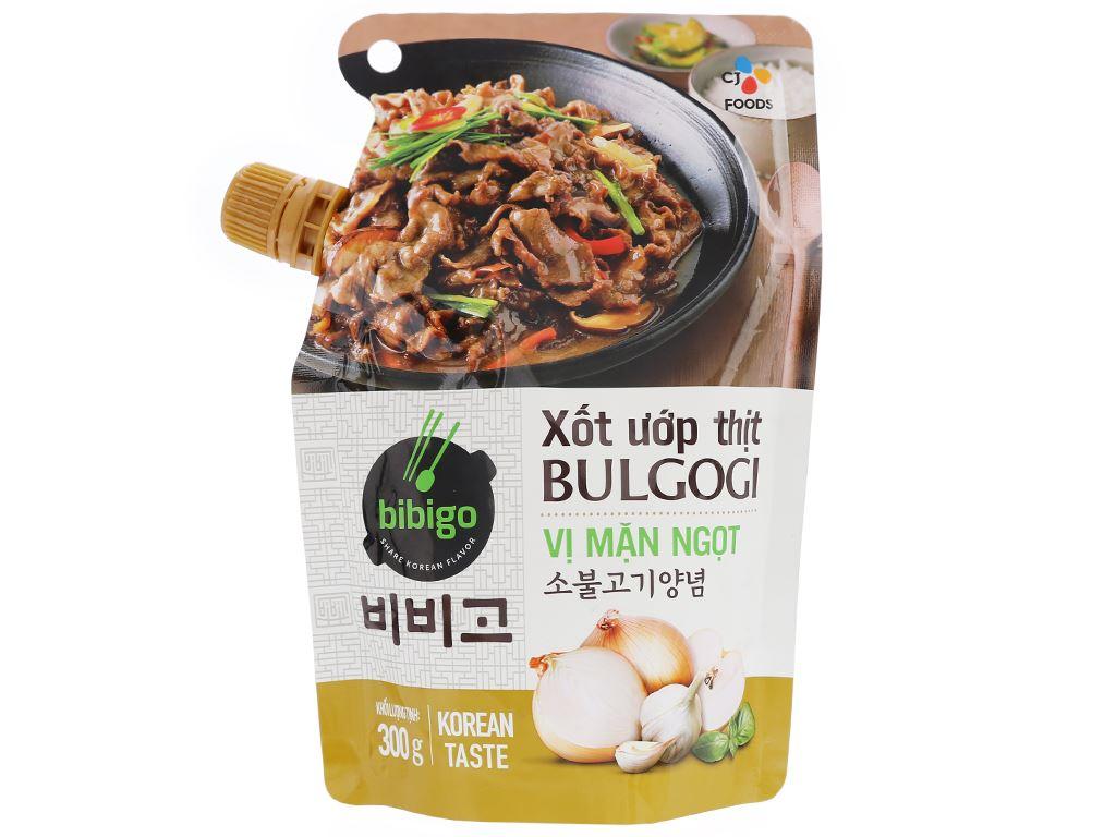 Xốt ướp thịt bulgogi vị mặn ngọt Bibigo gói 300g 1