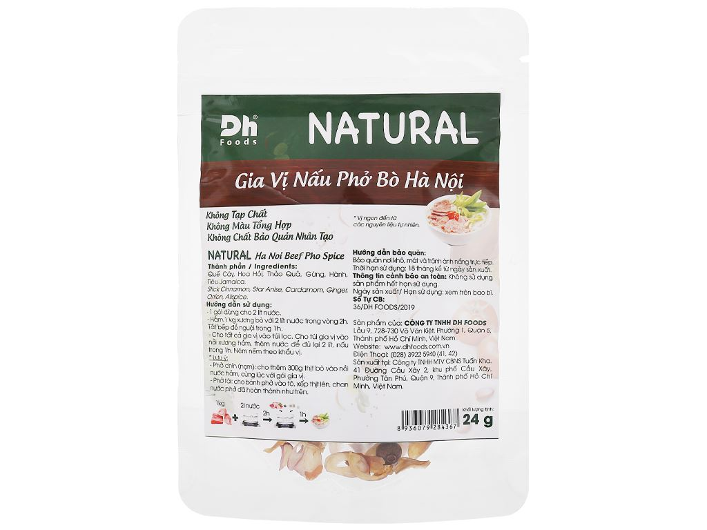 Gia vị nấu phở bò Hà Nội DH Food Natural gói 24g 1