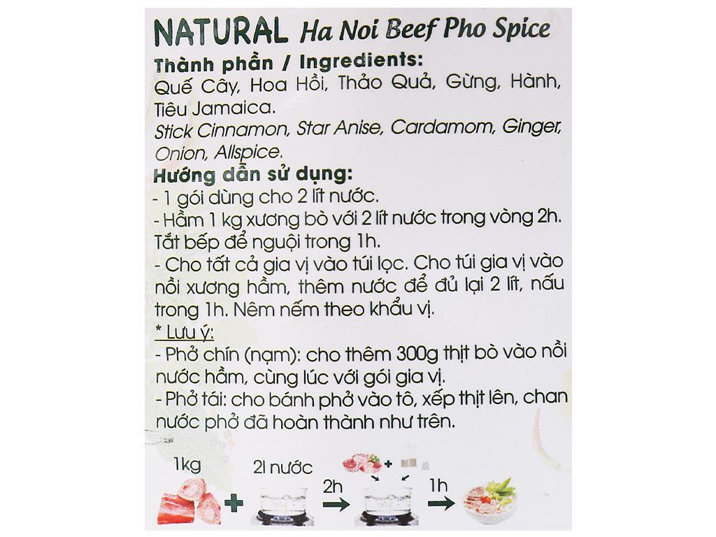 Gia vị nấu phở bò Hà Nội DH Food Natural gói 24g 4